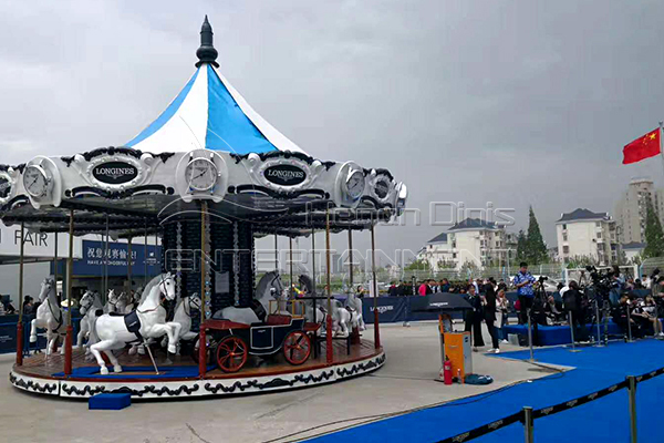 Customized fiberglass carriage for Longines carousel