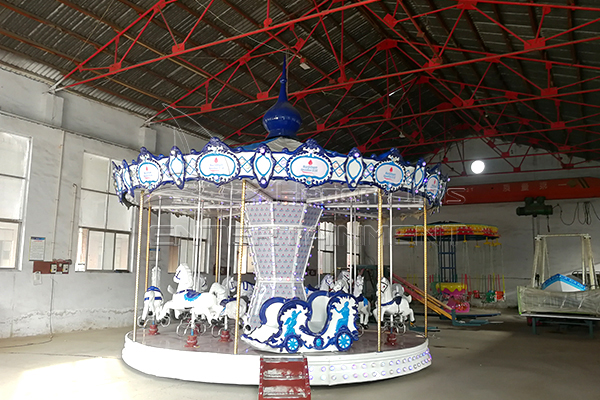 Longines model carousel horses is available in Jinshan amusement ride supplier