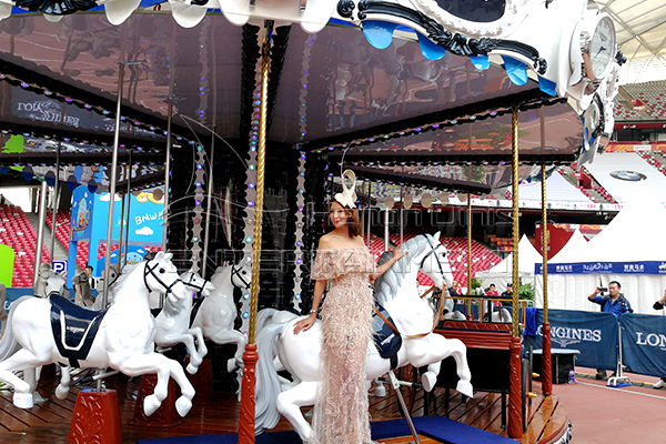 Longines model carousel horses is available in Dinis amusement ride supplier