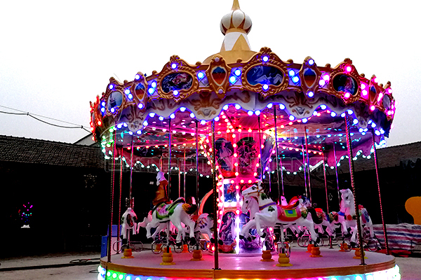16-seater double flying eave carousel for Pure client