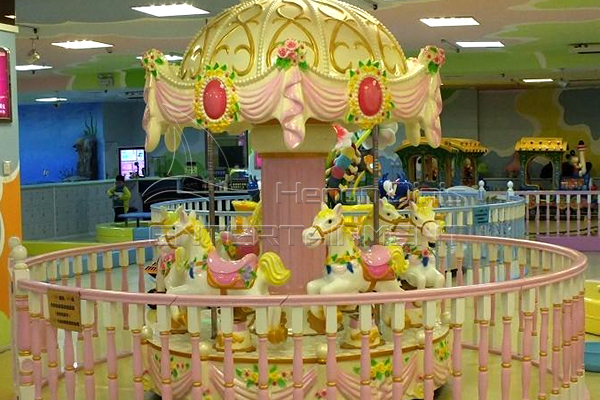 Dinis indoor playground small carousel horse for sale