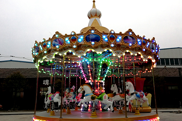 Dinis Tailored Electric Christmas Rotating Horse for Sale to Peru Customer