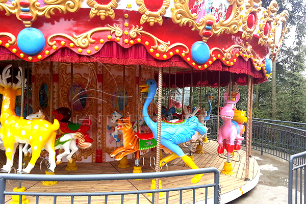 Full size amusement park 36 horse carnival carousel