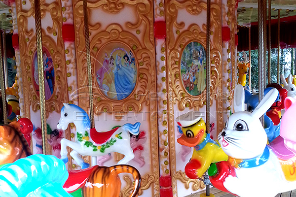 Full size indoor 36 horse carnival carousel