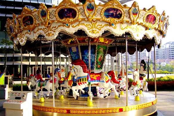Life size antique playground merry go round