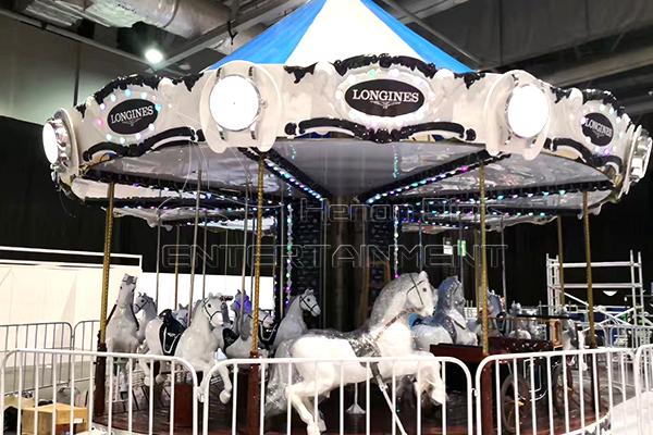 Longines fiberglass carousel horse rides