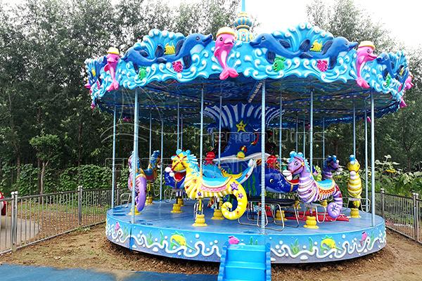 New design cute ocean carousel for sale