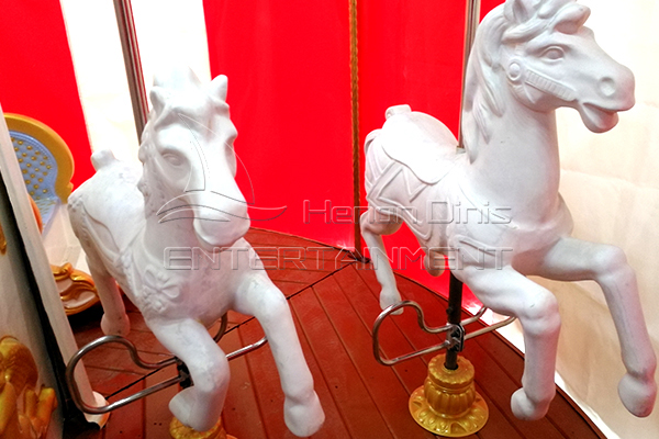 Unpainted horses of Christmas themed carousel horses for sale