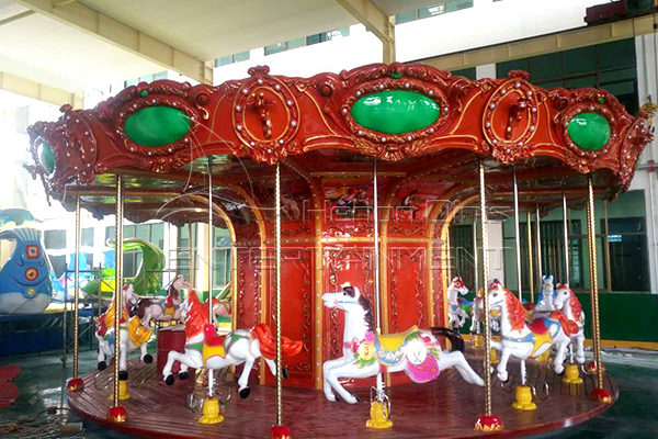 Vintage carousel horse for sale is available in Dinis amusement manufacturer
