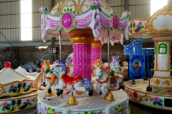 carousel horse model in Dinis factory