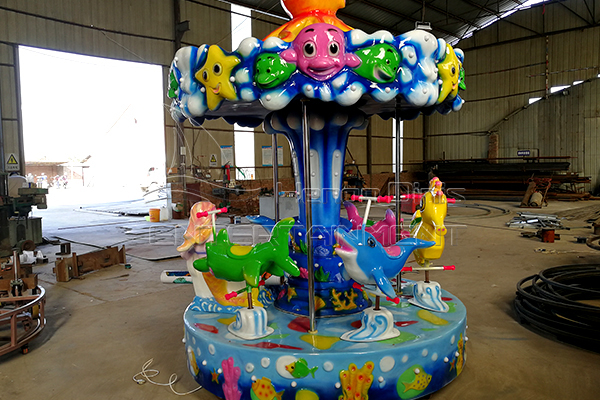 green animal simple carousel for sale