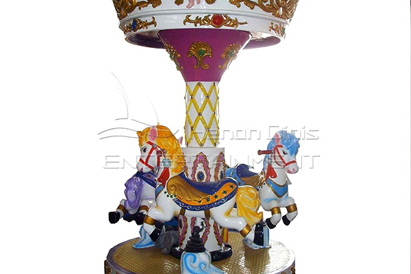 3 seats Dinis animal pony carousel for sale