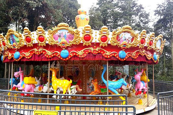 36 seats animal large carousel is avaiable in Dinis