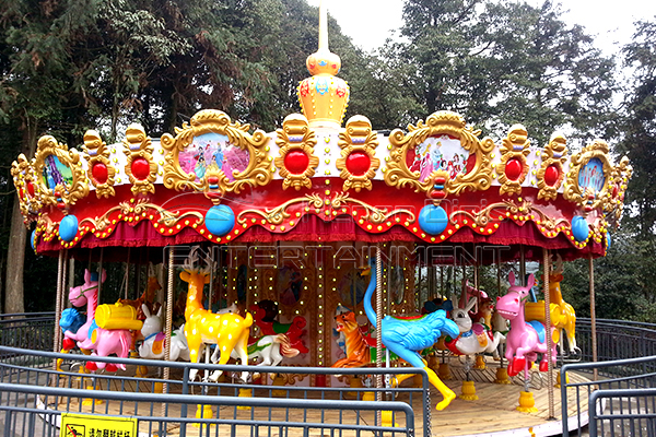 36 seats animal merry go round is available in Dinis