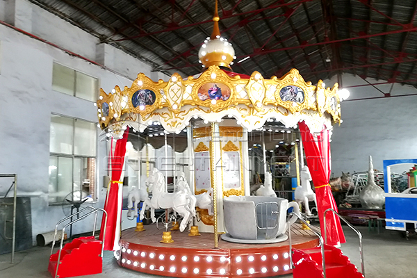 Christmas carousel kiddie ride for sale