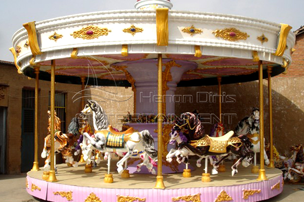 Dinis antique Christmas rotating horse