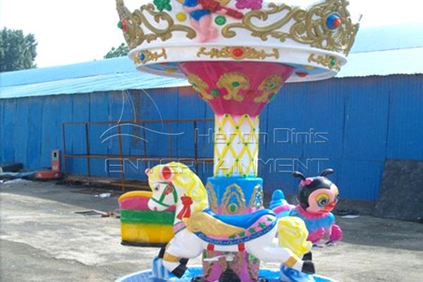 Dinis pony carousel cute kiddie ride 3 seats