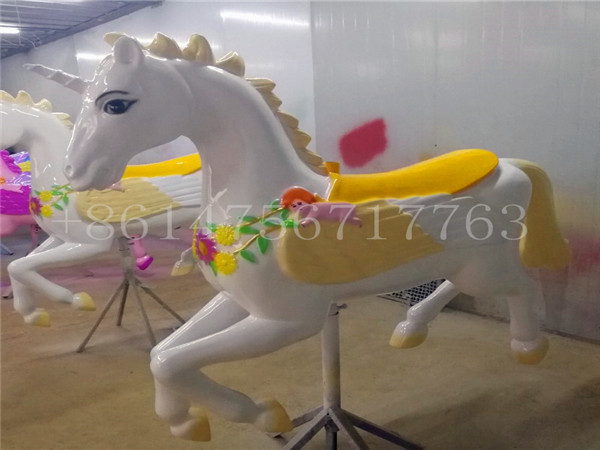 Dinis vintage carousel horse unicorn 40x38 amusement parks