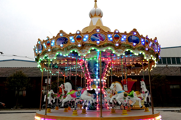 Full size vintage moving 16 seats carousel horse rides for sale
