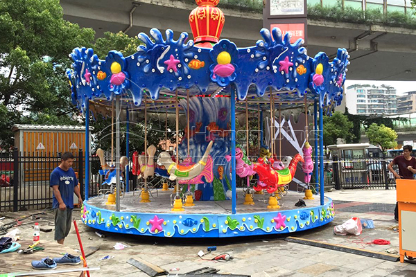 Novel design sea fish carousel fly eave